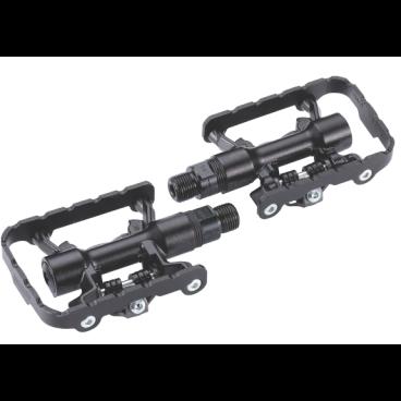 Педали велосипедные BBB DualChoice, черные, алюминий, BPD-23