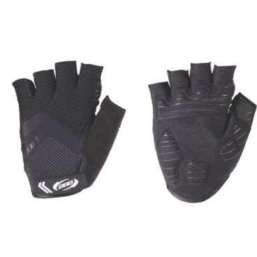 Перчатки велосипедные BBB HighComfort, черный, US:M, BBW-41Велоперчатки<br>Высокотехнологичные профессиональные летние перчатки.<br><br>Вставки в ладони для комфорта и противоскользящие силиконовой полоски на ладони.<br><br>Махровая часть на большом пальце.<br><br>Петли между пальцами для легкого снятия перчаток.<br>