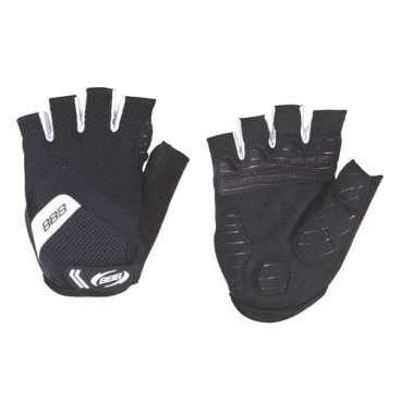 Перчатки велосипедные BBB HighComfort, черный/белый, US:S, BBW-41Велоперчатки<br>Высокотехнологичные профессиональные летние перчатки.<br><br>Вставки в ладони для комфорта и противоскользящие силиконовой полоски на ладони.<br><br>Махровая часть на большом пальце.<br><br>Петли между пальцами для легкого снятия перчаток.<br>