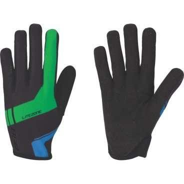 Перчатки велосипедные BBB LiteZone, черный/зеленый/синий, US:XL, BBW-46Велоперчатки<br>Легкие перчатки для марафонов и гонок кросс-кантри <br><br>-длинные пальцы <br>-тыльная сторона из сетчатого материала<br>-защита из материала Clarino на большом и указательном пальцах<br>-удлиненная ладонь в районе указательного пальца для лучшего сцепления <br>-однослойная перфорированная ладонь для оптимальной чувствительности и вентиляции<br>