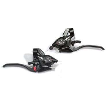 Купить со скидкой Шифтер велосипедный с тормозной ручкой, SHIMANO EZ FIRE PLUS ALTUS, 9 скоростей, черный, 2-5033