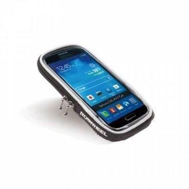 Чехол MINGDA, для смартфона на руль/ вынос, L17*W9*H1, 8см, с сенсорным окошком, черный, 11363L-A
