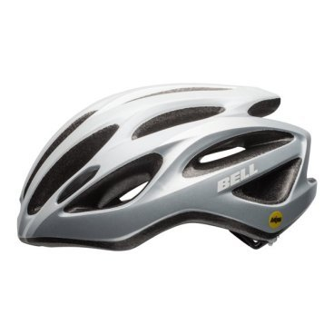 Велосипедный Шлем Bell 17 DRAFT MIPS, глянцевый белый серебристый. Размер U, BE7078290
