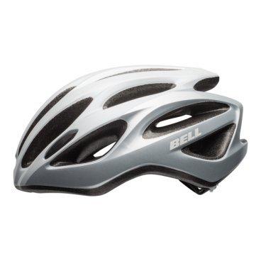Велосипедный Шлем Bell 17 DRAFT глянцевый белый серебристый. размер U. BE7078284