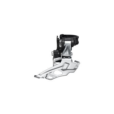 Переключатель передний Shimano Deore, на упор, для 2x10, верхняя тяга, черный, IFDM618DT6 переключатель передний велосипедный shimano claris 2403 3x8 скоростей на упор efd2403f