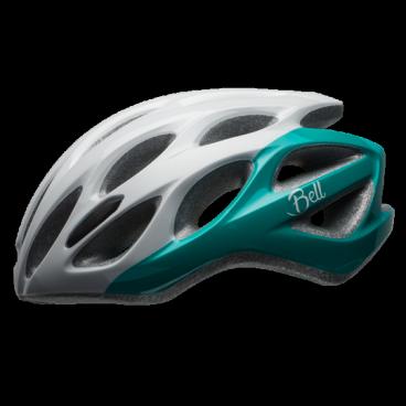 Велосипедный Шлем Bell 17 TEMPO АКТИВНЫЙ. ОТДЫХ глянцевый. белый/бирюзовый. размер U, BE7079651
