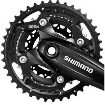 Звезда передняя SHIMANO, для FC-M523, 40T-AN, черный, Y1PY98020 fouriers cr dx004 cnc single chain ring bike bicycle chainrings sprocket 40t 42t for 10s shimano b c d 104mm