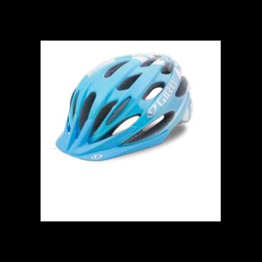 Велосипедный Шлем Giro 17VERONA, женский, глянцевый голубой, белый цветы, размер U, GI7075633 велосипедный шлем giro 17 trinity глянцевый черный белый размер u gi7075606