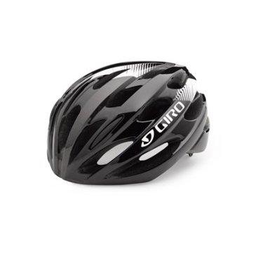 Велосипедный Шлем Giro 17 TRINITY, глянцевый  черный, белый, Размер U, GI7075606 велосипедный шлем giro 17 verona женский гллянцевый белые линии размер u gi7075639
