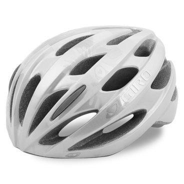 Велосипедный Шлем Giro 17TRINITY, глянцевый серебреный белый, Размер U, GI7075623 велосипедный шлем giro 17 verona женский гллянцевый белые линии размер u gi7075639