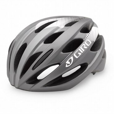 Велосипедный Шлем Giro 17 TRINITY, глянцевый титан, белый Размер U, GI7075617 велосипедный шлем giro 17 trinity глянцевый черный белый размер u gi7075606