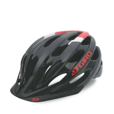Велосипедный шлем Giro17BISHOP АКТИВНЫЙ ОТДЫХ, глянцевый. красный/черный, размер,U GI7079126