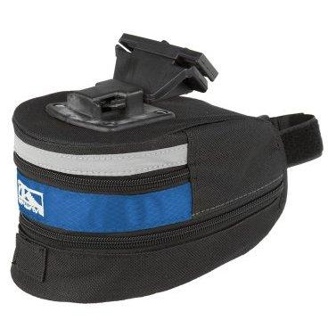 Подсумок велосипедный M-WAVE подседельный быстросъемный, размер L (100) черно-синий, 5-122484