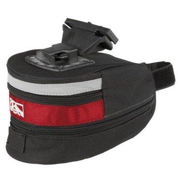 Подсумок велосипедный M-WAVE подседельный быстросъемный, размер L (100) черно-красный, 5-122483
