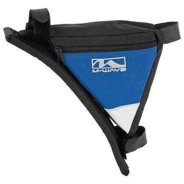 Подсумок велосипедный M-WAVE подрамный треугольный плечевой упор (100) черно-синий, 5-122544