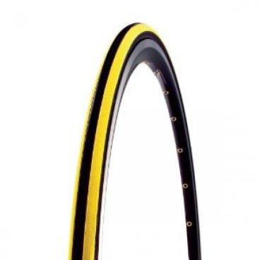 Покрышка велосипедная CST, 700x23C, C1406 CZAR, черный-желтый, слик, TB86323600
