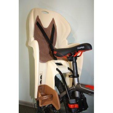 Велокресло с креплением на раму, бежевое с коричневой накладкой, до 22кг, VS 11500  COMFORT frame