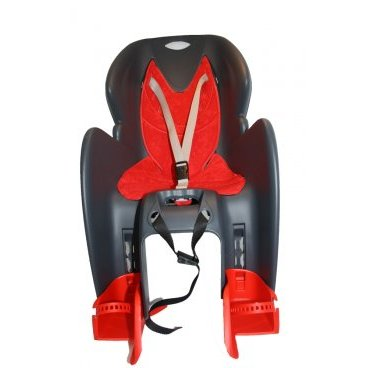 Велокресло с креплением на багажник, cерое с красным, до 22 кг, VS 11600 G/R COMFORT carrier