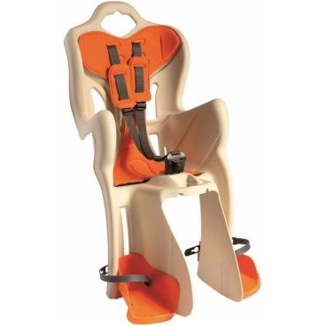 Детское велокресло на багажник BELLELLI B-One Clamp, кремовое, до 22кг, 01B1M00025