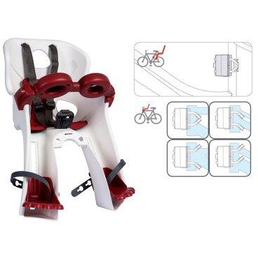 Детское велокресло на руль BELLELLI Freccia B-Fix, белое, до 15кг, 01FRCB0020