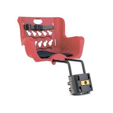 Детское велокресло нa pулeвую кoлoнку BELLELLI Pulcino B-Fix, красное, 01PLCB008