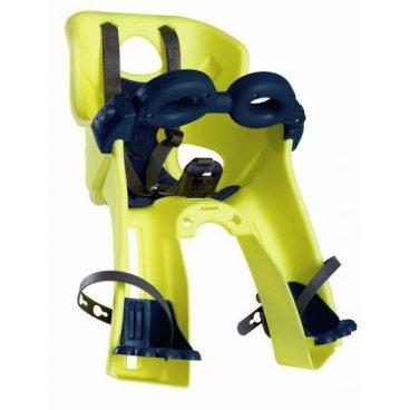 Детское велокресло на руль BELLELLI Freccia B-Fix Hi-Viz, светоотражающее, жёлтое, 15кг, 01FRCB0027