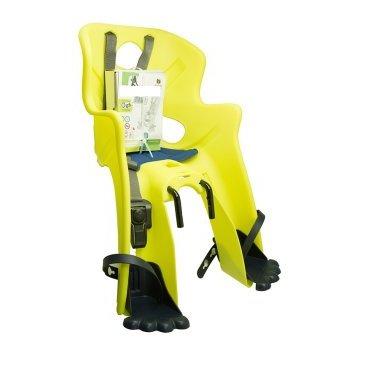 Детское велокресло на раму BELLELLI Rabbit B-Fix, Hi-Viz, светоотражающее, жёлтое, 01RBTB0027