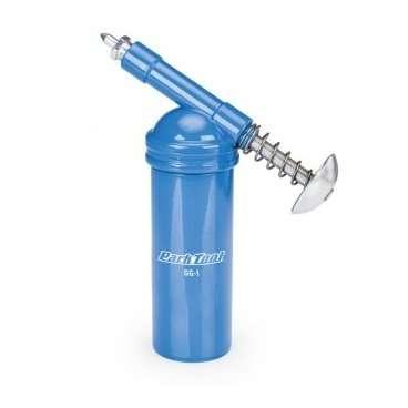 Дозатор смазки Park Tool, PTLGG-1Велоинструменты<br>Дозатор для смазки Parktool Grease Gun. Может использоваться в качестве самостоятельной масленки или, открутив емкость, и накрутив в виде крышки-дозатора на стандартные тюбики со смазкой.<br>