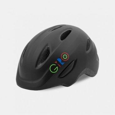 Велосипедный шлем Giro 17 SCAMP,  детский, матовый черный/логотип, размер S, GI7075739