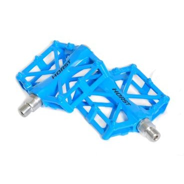 Педали HORST, алюминий H36, широкие, с 2-мя герметичными промподшипниками, 420 г, синие, 00-170837