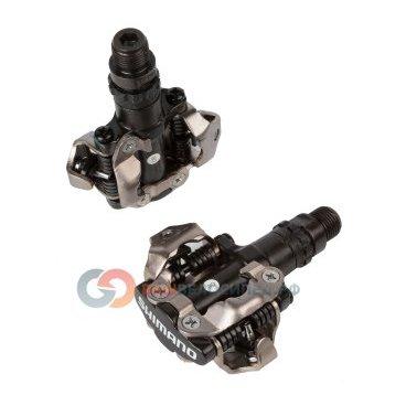 Педали велосипедные Shimano замковые MTB  серо-черные EPDM520L 2-3040Педали для велосипедов<br>EPDM520L, корпус - алюминий, ось - высокопрочный хром-молибденовый сплав, компактная конструкция с открытым механизмом для легкого застегивания, герметичные картриджные шарикоподшипники, повышенная прочность и грязезащищенность, регулируемые, 380/пара, резьба 9/16, черные, инд. уп.<br>