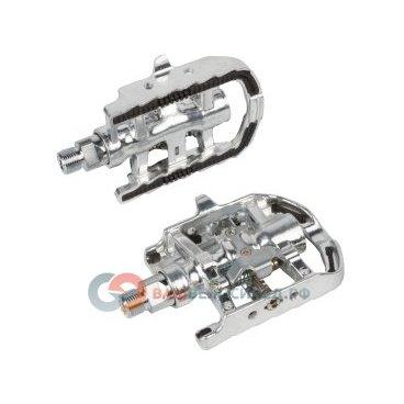 Педали велосипедные M-Wave алюминиевые Shimano-совместимые серебристые 5-311806 педали велосипедные алюминиевые литые широкие резьба 9 16 черные 5 311348
