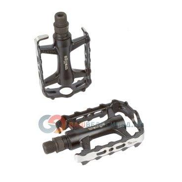 цены Педали велосипедные WELLGO алюминий LU-C27G ось Cr-Mo литые облегчённые 270 г черные 6-14127