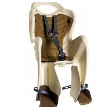 Детское велокресло BELLELLI Mr Fox Relax B-Fix, на подседельную трубу, кремовое, 01FXRB0025