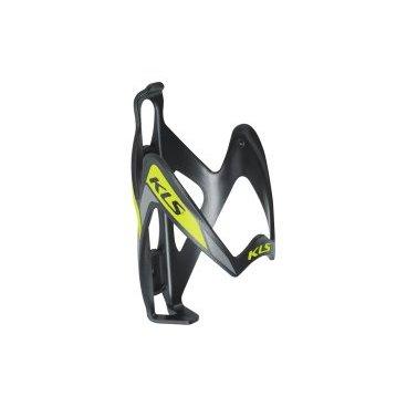 Флягодержатель велосипедный KLS PATRIOT, поликарбонат, вес 33г, чёрный/салатовый.