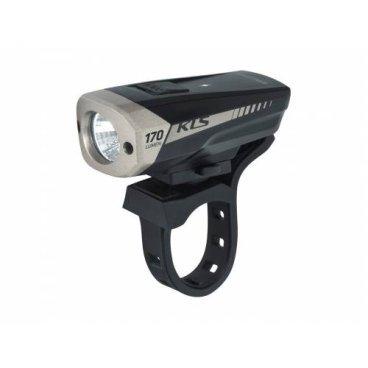 Фонарь KELLYS передний KLS SPITFIRE, 170 Lm х 2,2 час, 4 режима, зарядка от USB, цвет черный