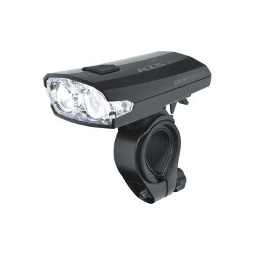 Фонарь велосипедный KELLYS передний INDEX 016 2 диода, 3 режима, чёрный, 35лм, зарядка через USB
