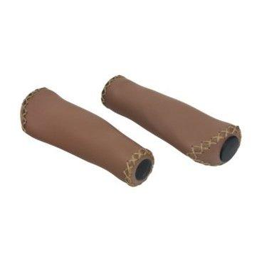 Грипсы KELLYS KLS HOLLANDGRIP, анатомические, 132 мм, с заглушками, коричневые цена