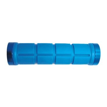 Грипсы PROPALM HY-2004EP, для Fixed Gear, 128мм, с 2 грипстопами, синие, с упаковкой грипсы propalm hy 088ep1 анатомические длина 130мм с 1 грипстопом с заглушками красные