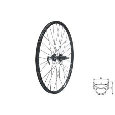 Колесо заднее KELLYS KLS DRAFT DSC, 26, двойной обод 32Н, 8-10 скоростей, с эксцентриком, черноеКолеса для велосипеда<br>Колесо KELLYS KLS DRAFT DSC<br>26<br>Заднее<br>Обод двойной<br>32H<br>8-10 скоростей<br>С эксцентриком<br>Черное<br>