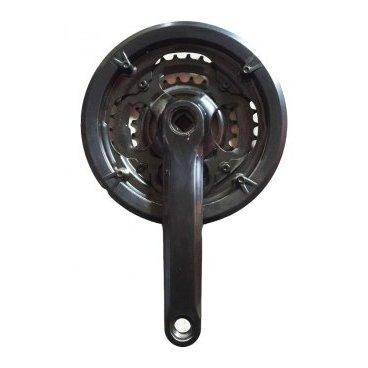 Система шатунов 24/34/42T Vinca, длина шатуна 170мм, под квадрат, 9/16, сталь, черный, CW 11 black