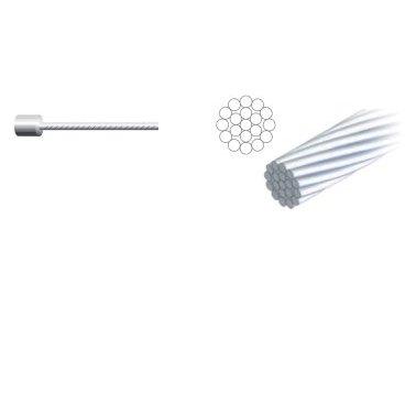 Трос переключения ALHONGA, 1.2х2100мм, головка 4х4мм, сталь, гальванизированный, 100 шт, No.99 4X4