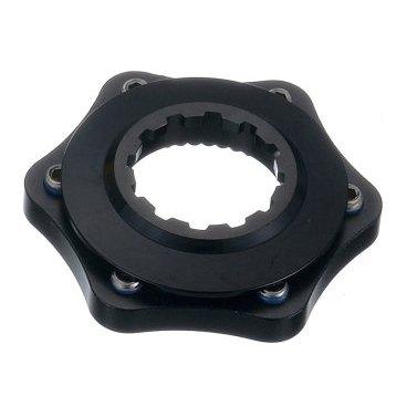 Адаптер втулки ALHONGA Center Lock/ ротор, 6 болтов, чёрный, HJ-ADR02-BKТормоза на велосипед<br>Alhonga Адаптер втулка Center Lock/ ротор 6 болтов, чёрный<br>