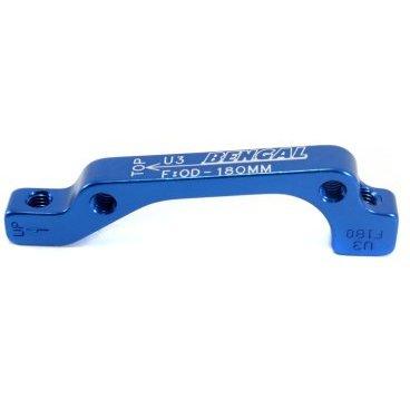 Адаптер BENGAL ADU3 дискового тормоза IS, 180мм, передний, синий, ADU4 тормоза bengal mb700s дисковые механические передний задний с роторами 160мм синие mb700s blue