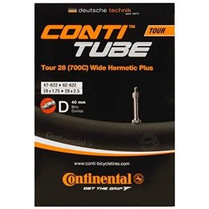 Камера для велосипеда Continental Tour 28 wide Hermetic Plus, 54-584/62-622, ниппель Dunlop, 182151