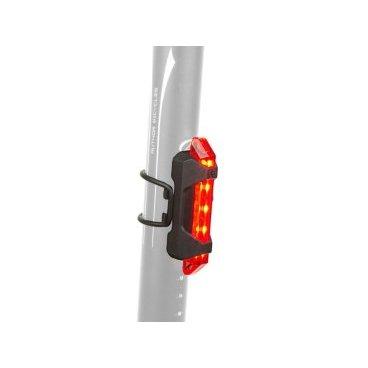 Фонарь AUTHOR задний 5 диодов/4функции, A-Stake Mini USB,  вертикальный, прорезиненый, 8-12039134