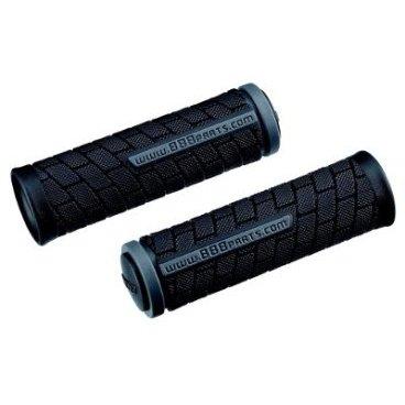 Грипсы велосипедные BBB DualGrip, 102mm, черный/серый, BHG-07Ручки и Рога<br>Мягкий материал двойной плотности.<br><br>Мощное сцепление благодаря поверхности.<br><br>Две заглушки в комплекте.<br><br>Длина: 102 мм<br>