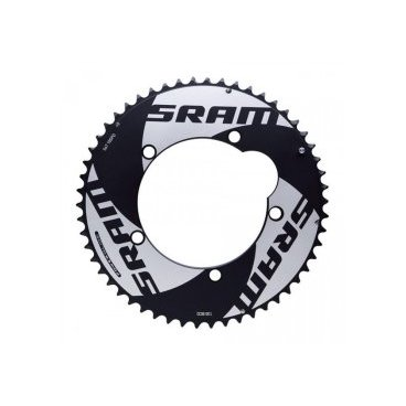 Звезда велосипедная Sram Chainring Red TT, 10s, 55T, 130mm, Al 4mm, черный, 11.6215.198.040