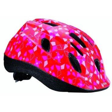 Велошлем BBB Boogy, детский, рисунок узор, красный-розовый,  S (48-54 см), BHE-37 велоинструменты bbb мультитул bbb primefold s