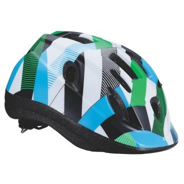 Велошлем BBB Boogy, детский, рисунок узор, белый-зеленый-синий, S (48-54 см) , BHE-37 велоинструменты bbb мультитул bbb primefold s